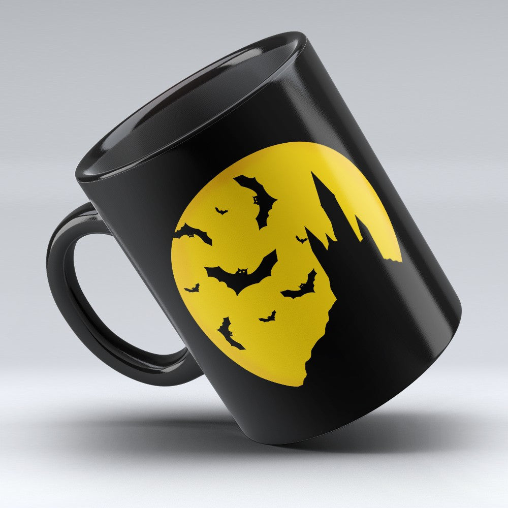 Limited Edition Halloween Mug - Black Bats 11oz