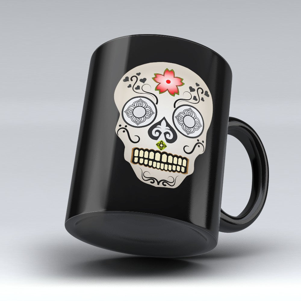 Limited Edition Halloween Mug - Mexican Skull 11oz - Halloween Mugs - Mugdom Coffee Mugs