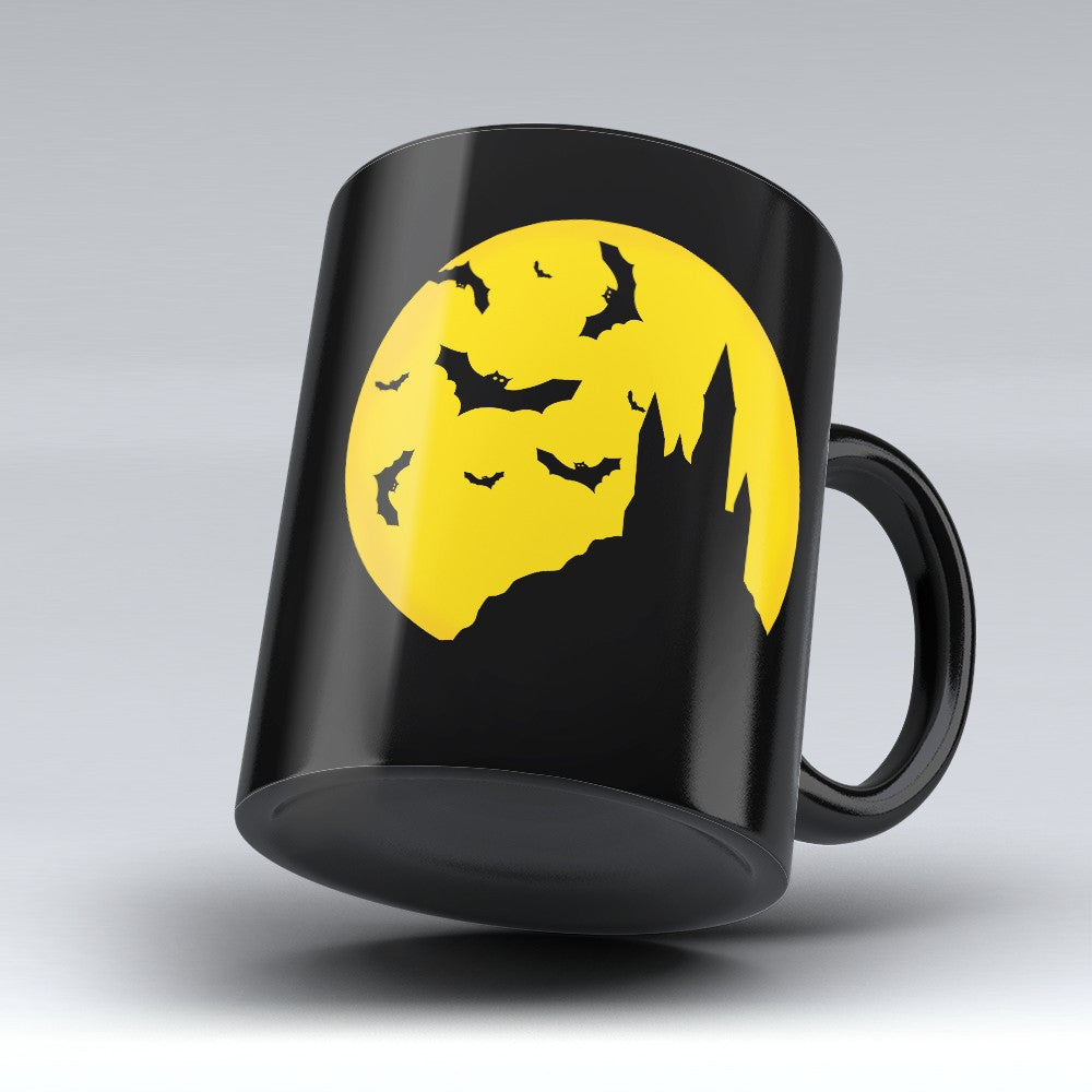 Limited Edition Halloween Mug - Black Bats 11oz - Halloween Mugs - Mugdom Coffee Mugs