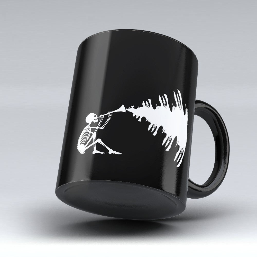 Limited Edition Halloween Mug - Skeleton Music - 11oz - Halloween Mugs - Mugdom Coffee Mugs