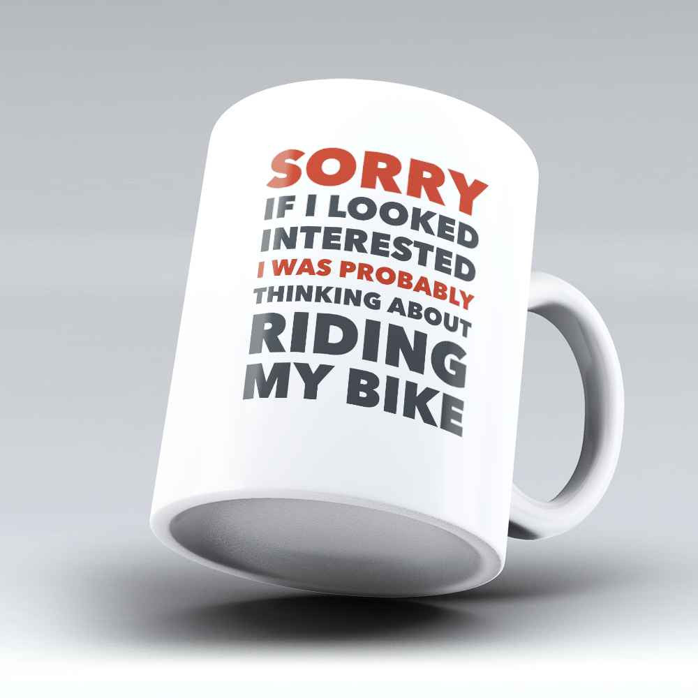 "Limited Edition - ""Riding My Bike"" 11oz Mug - Bicycle Mugs - Mugdom Coffee Mugs"