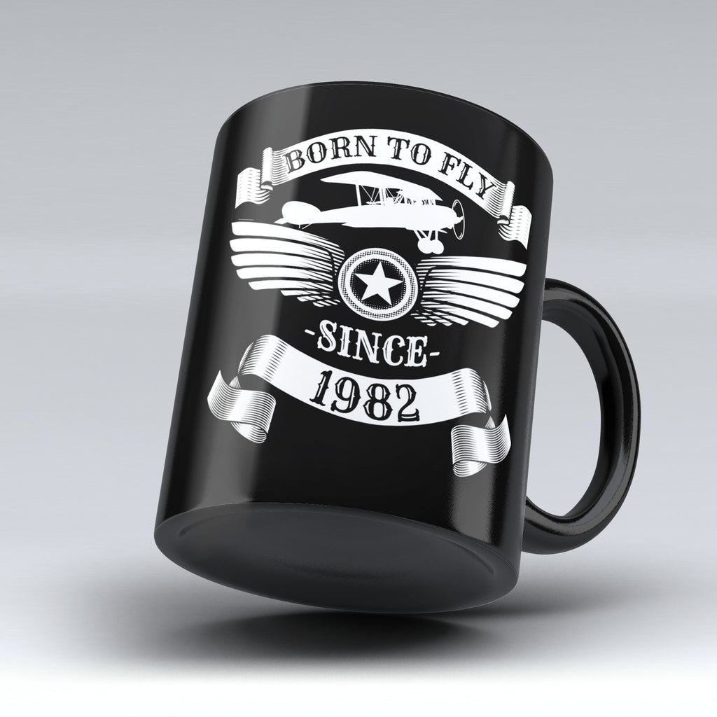 Limited Edition - Born to Fly Since 1982 - 11oz mug - Pilot Mugs - Mugdom Coffee Mugs
