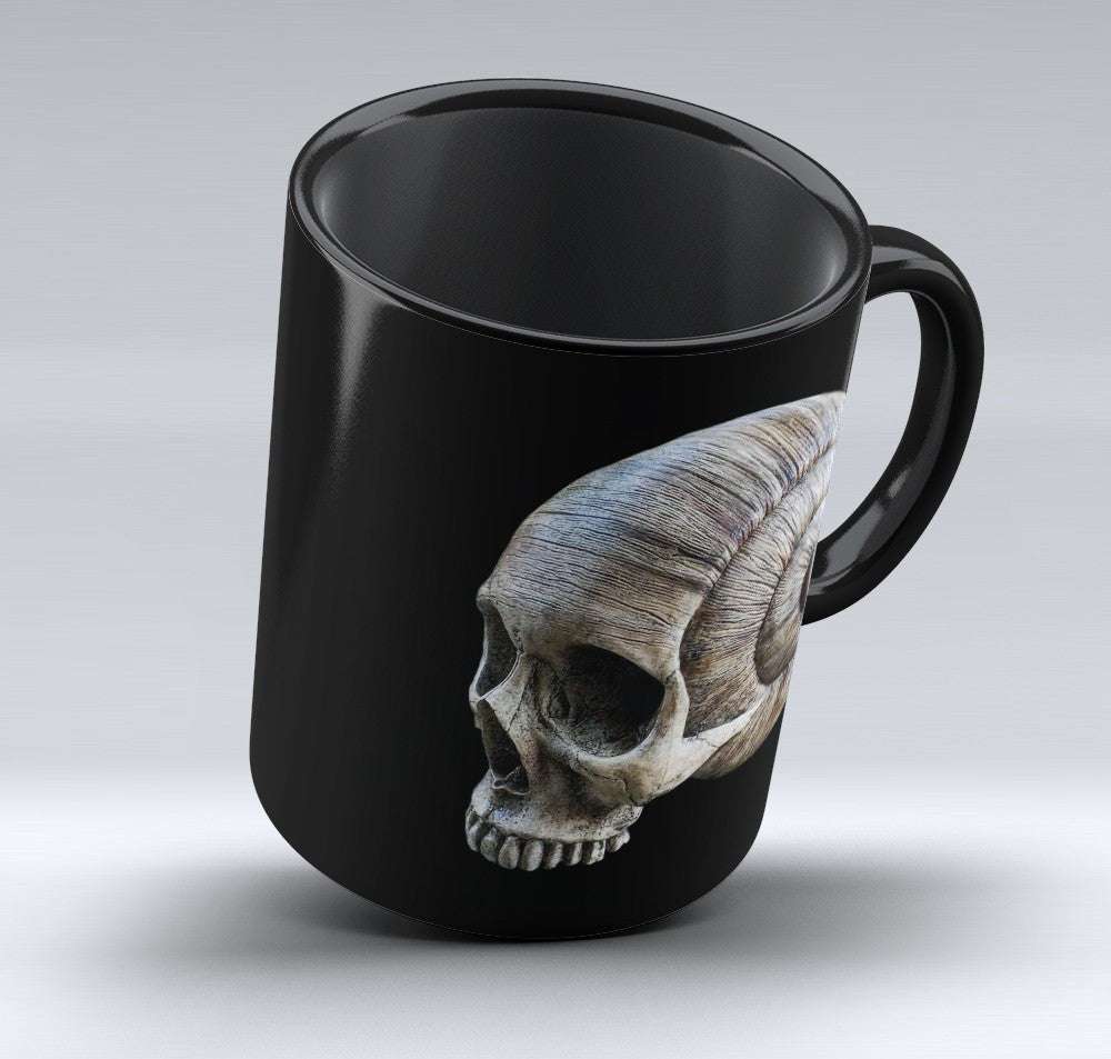 Limited Edition Halloween Mug - Snail Skull - 11oz - Halloween Mugs - Mugdom Coffee Mugs