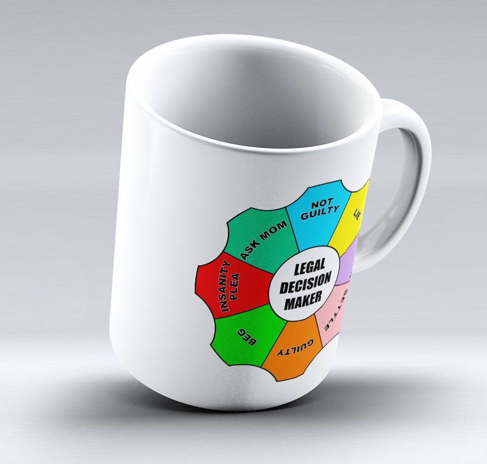 "Limited Edition - ""Legal Decision Maker"" 11oz Mug - Lawyer Mugs - Mugdom Coffee Mugs"