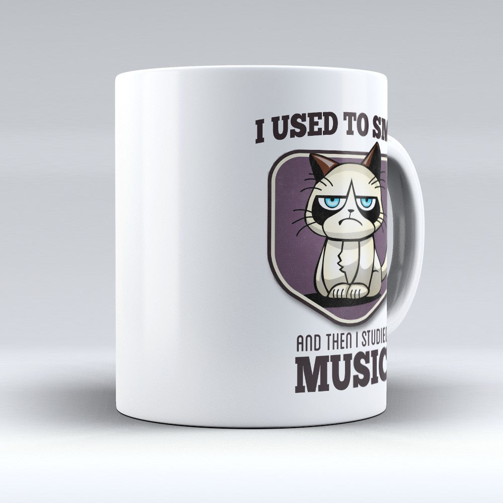 "Limited Edition - ""I Used to Smile - Music"" 11oz Mug - Musician Mugs - Mugdom Coffee Mugs"