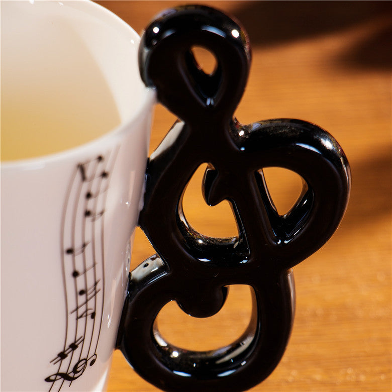 "Limited Edition ""Music Note"" Premium Ceramic Mug - 8.4oz - Music Mugs - Mugdom Coffee Mugs"