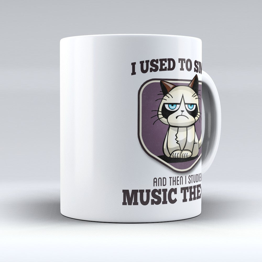 "Limited Edition - ""I Used to Smile - Music Theory"" 11oz Mug - Musician Mugs - Mugdom Coffee Mugs"