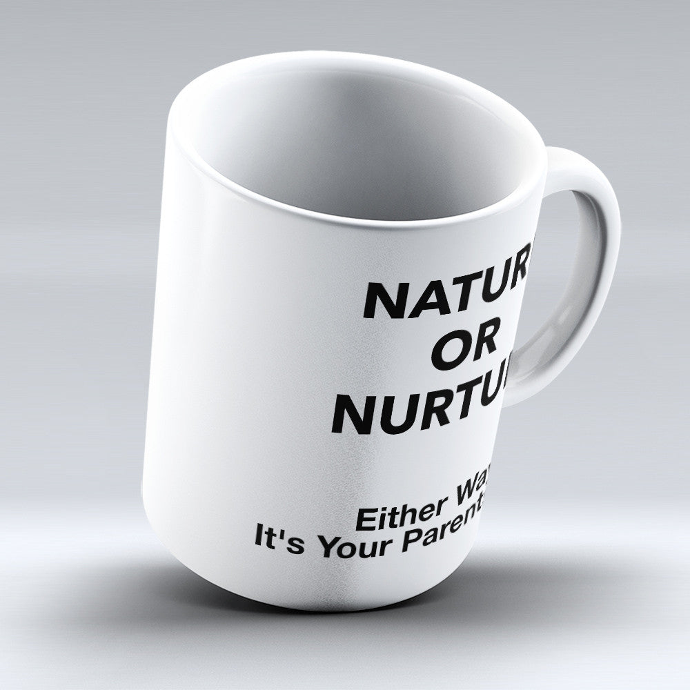 "Limited Edition - ""Nature or Nurture"" 11oz Mug - Counseling Mugs - Mugdom Coffee Mugs"