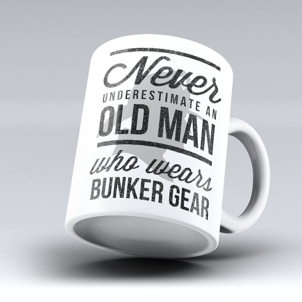 "Limited Edition - ""Old Man in Bunker Gear"" 11oz Mug - Firefighter Mugs - Mugdom Coffee Mugs"