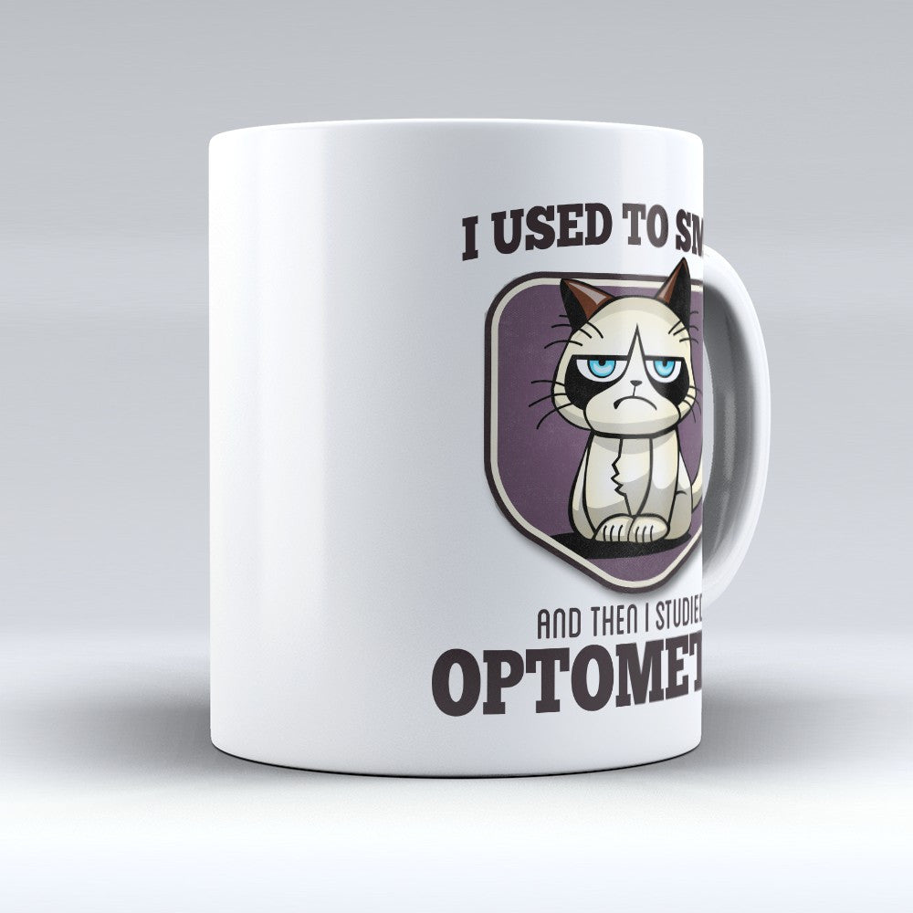 "Limited Edition - ""I Used to Smile - Optometry"" 11oz Mug - Optometrist Mugs - Mugdom Coffee Mugs"