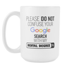 "Limited Edition - ""My Dental Degree"" 15 oz Mug - ""My Degree"" Mugs - Mugdom Coffee Mugs"