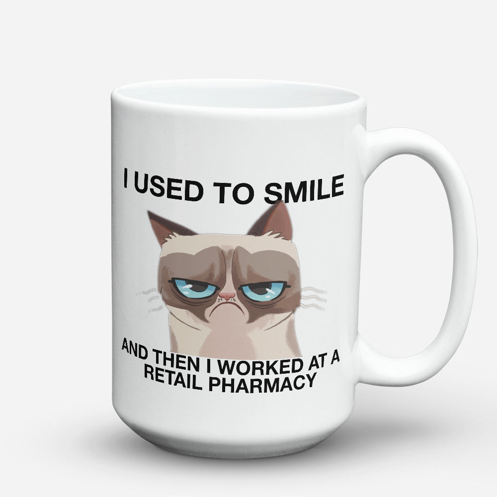 "Limited Edition - ""Pharmacy Smile"" 15oz Mug - Pharmacist Mugs - Mugdom Coffee Mugs"