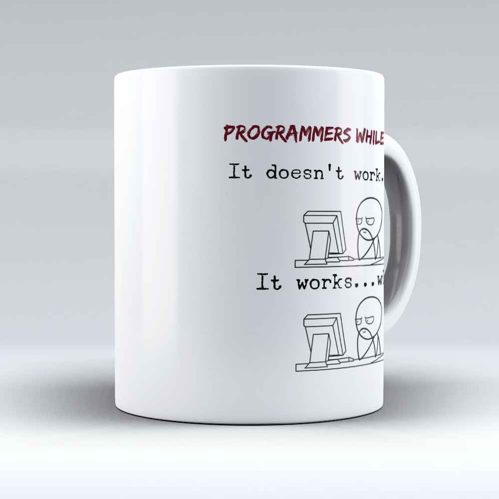 "Limited Edition - ""Programmers While Coding"" 11oz Mug - Developer & Programmer Mugs - Mugdom Coffee Mugs"