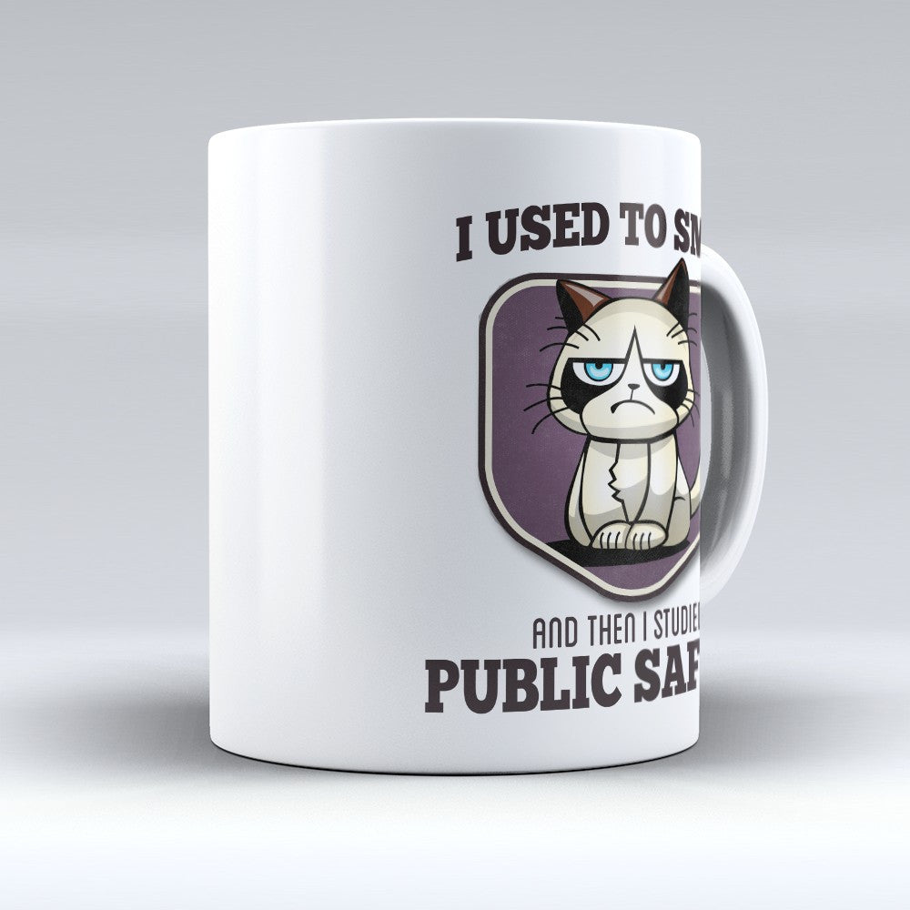 "Limited Edition - ""I Used to Smile - Public Safety"" 11oz Mug - Public Safety Mugs - Mugdom Coffee Mugs"