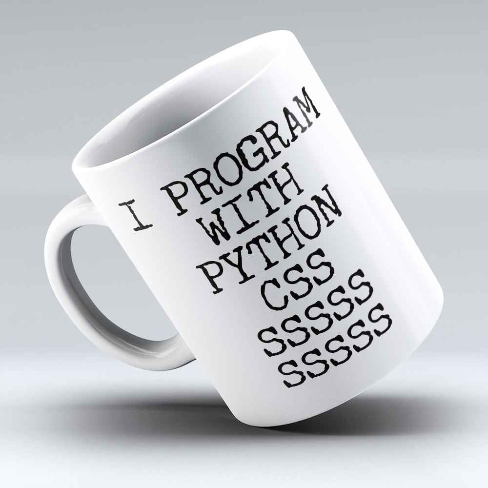 "Limited Edition - ""Python CSS"" 11oz Mug - Developer & Programmer Mugs - Mugdom Coffee Mugs"