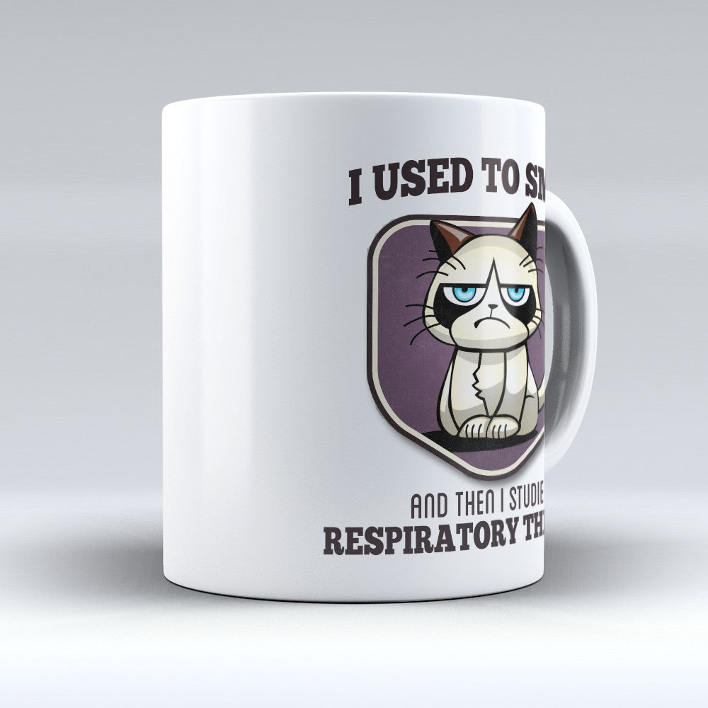"Limited Edition - ""I Used to Smile - Respiratory Therapy"" 11oz Mug - Respiratory Therapist Mugs - Mugdom Coffee Mugs"
