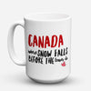 "Limited Edition - ""Canadians Snow"" 15oz Mug - Canada Mugs - Mugdom Coffee Mugs"