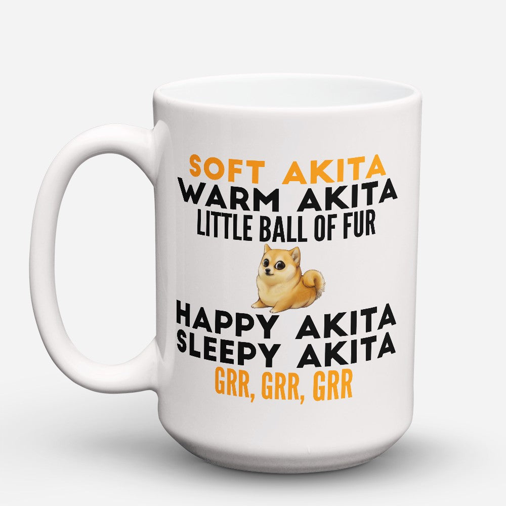 "Limited Edition - ""Soft Akita"" 15oz Mug"