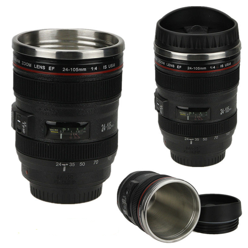 "Stainless Steel ""24-105mm Camera Lens"" Thermos"
