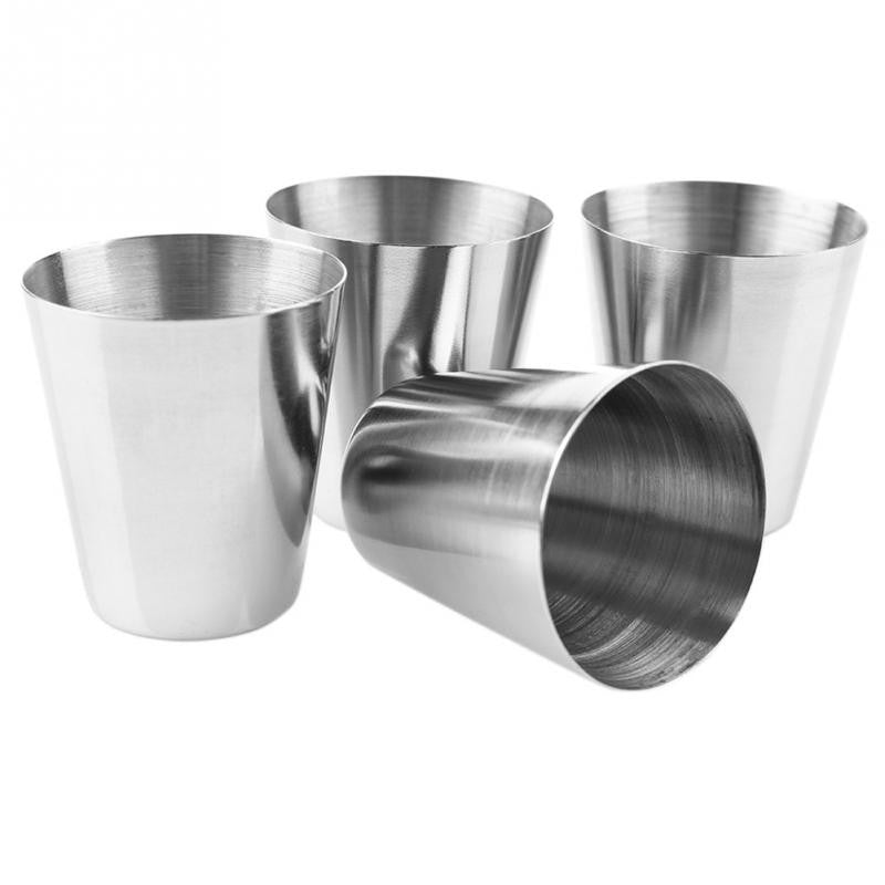 Stainless Steel Shot Glasses - 4pcs w/Case