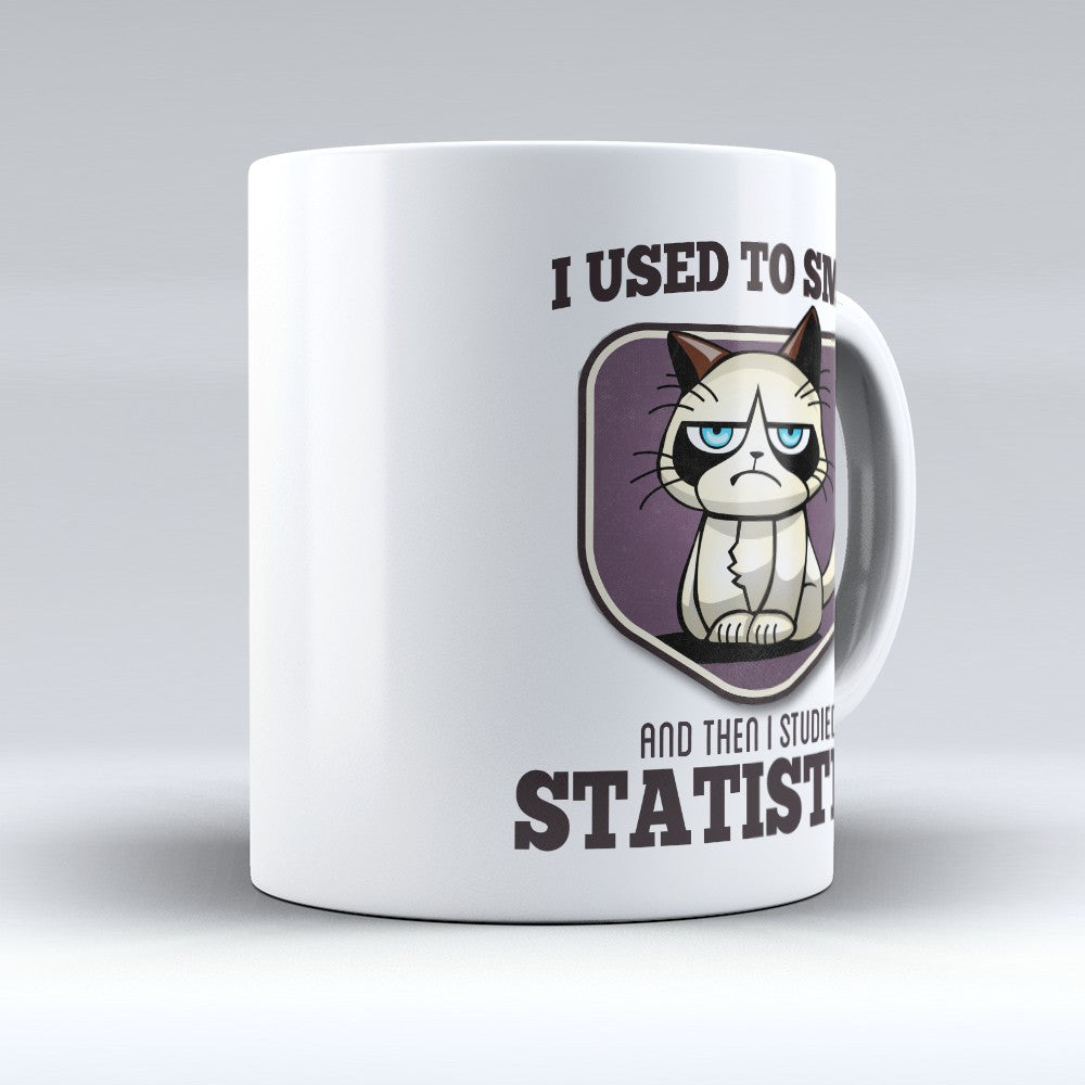 "Limited Edition - ""I Used to Smile - Statistics"" 11oz Mug - Statistician Mugs - Mugdom Coffee Mugs"