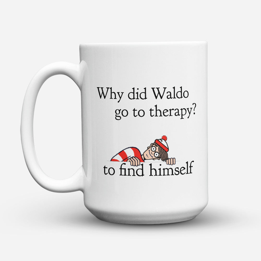 "Limited Edition - ""Counselor Waldo"" 15oz Mug - Counseling Mugs - Mugdom Coffee Mugs"