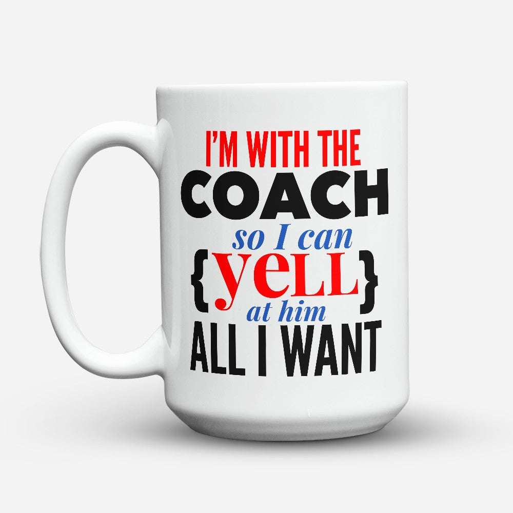 "Limited Edition - ""With The Coach"" 15oz Mug"