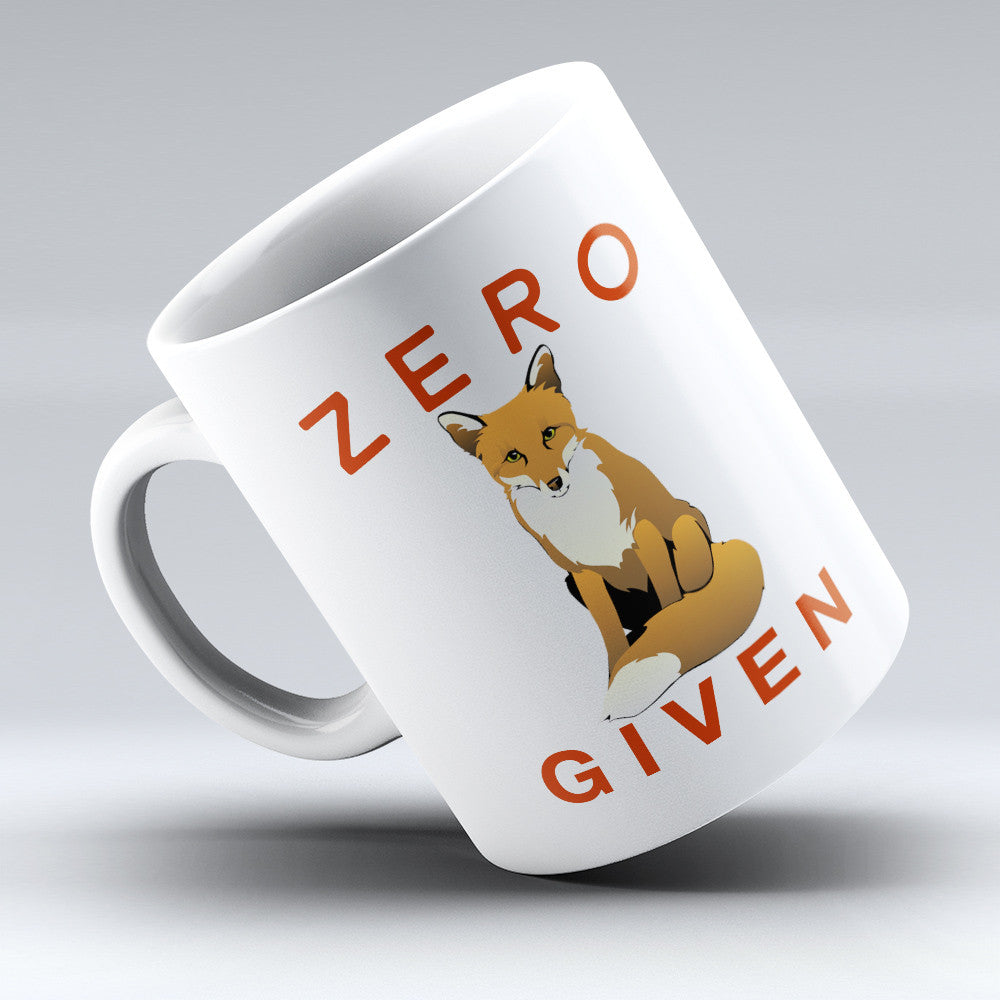 "Limited Edition - ""Fox Zero Given"" 11oz Mug - Fox Mugs - Mugdom Coffee Mugs"