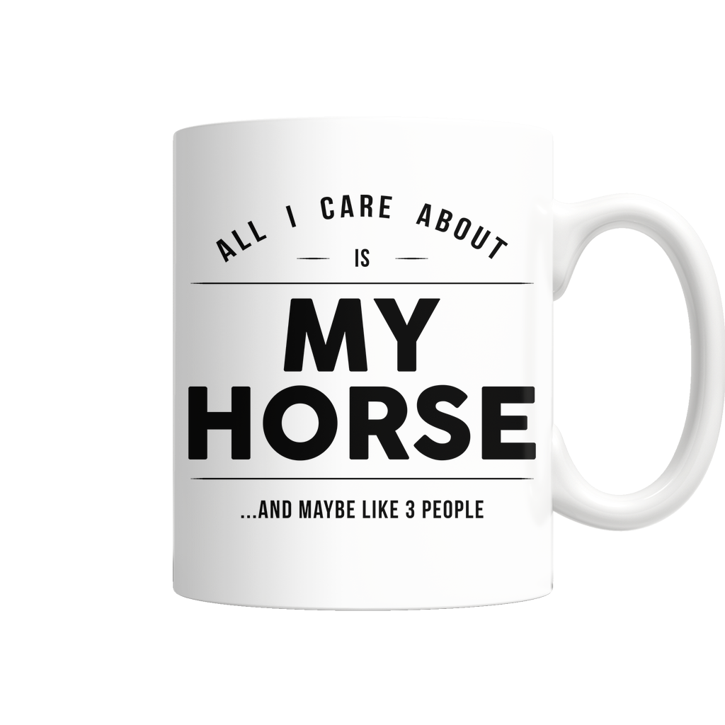 "Limited Edition - ""My Horse"" 11 oz Mug - Animal Mugs - Mugdom Coffee Mugs"
