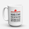 "Limited Edition - ""As Easy As Riding A Bike"" 15oz Mug - Engineer Mugs - Mugdom Coffee Mugs"