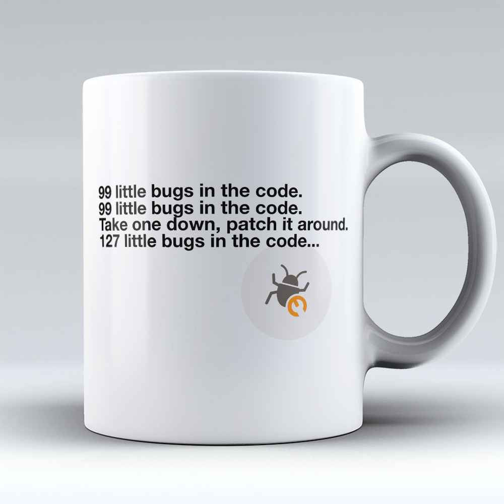 "Limited Edition - ""Bugs In The Code"" 11oz Mug - Developer & Programmer Mugs - Mugdom Coffee Mugs"