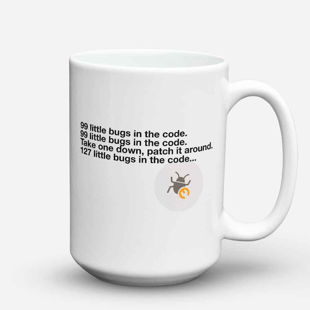 "Limited Edition - ""Bugs In The Code"" 15oz Mug - Developer & Programmer Mugs - Mugdom Coffee Mugs"
