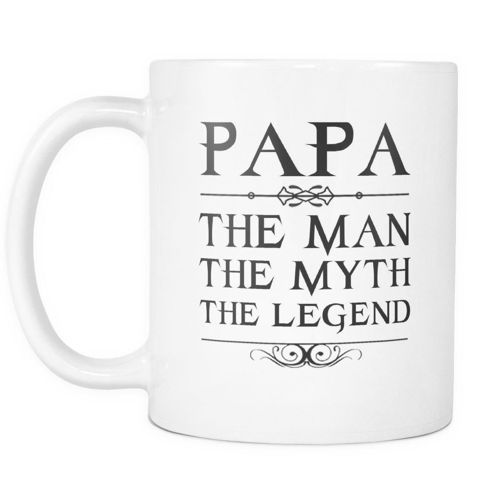 "Limited Edition - ""PAPA"" - 11oz Mug - Father mugs - Mugdom Coffee Mugs"