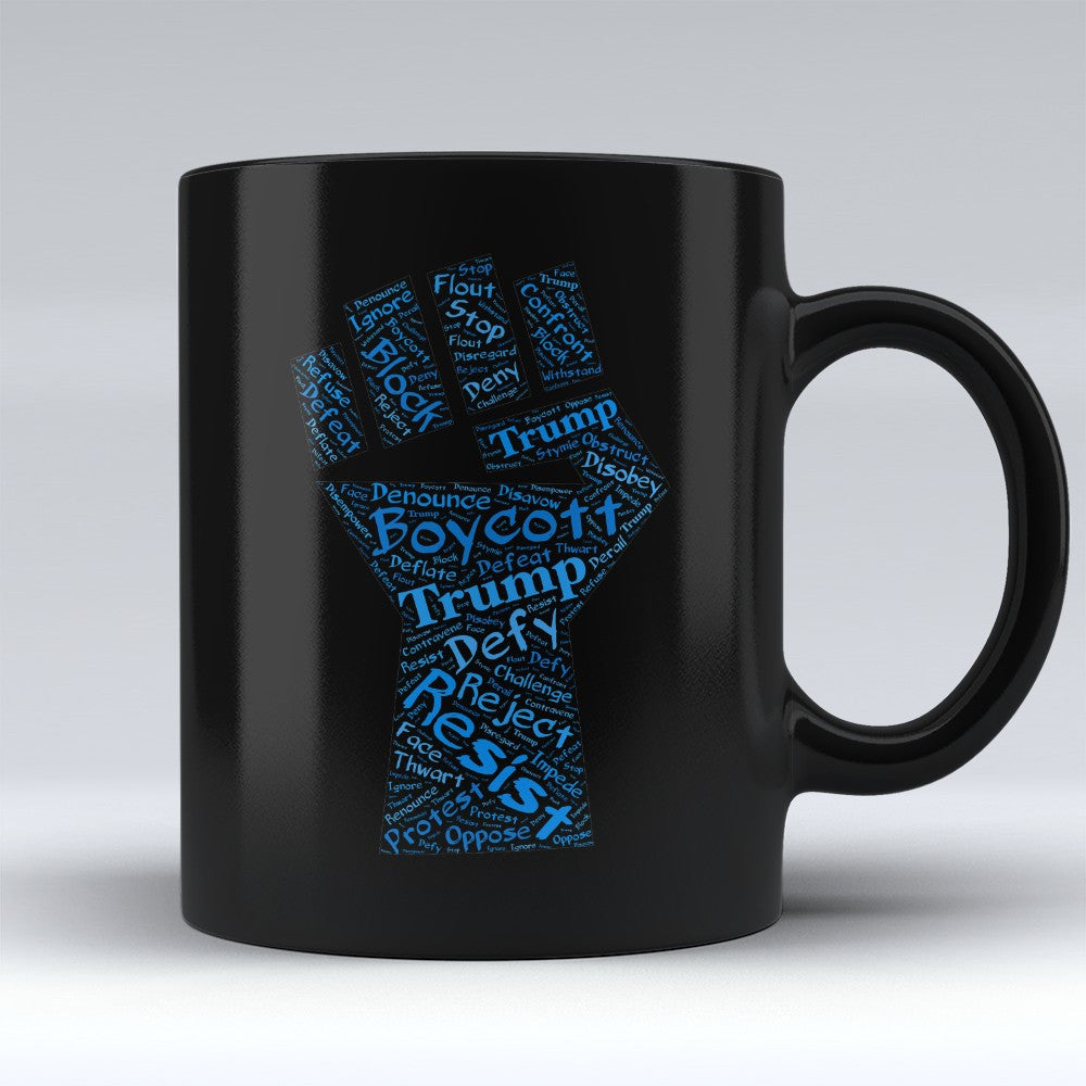 "Limited Edition - ""Defiance"" 11oz black Mug - Political Mugs - Mugdom Coffee Mugs"