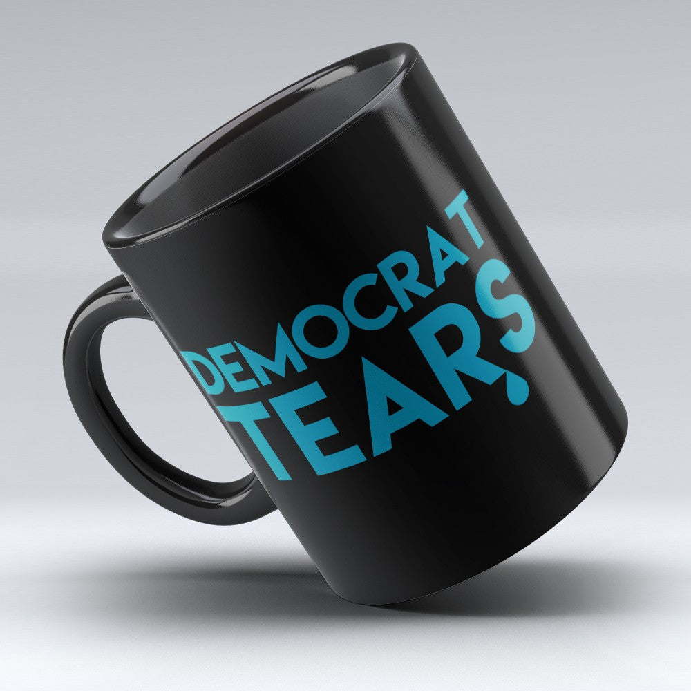 "Limited Edition - ""Democrat Tears"" 11oz black Mug - Political Mugs - Mugdom Coffee Mugs"