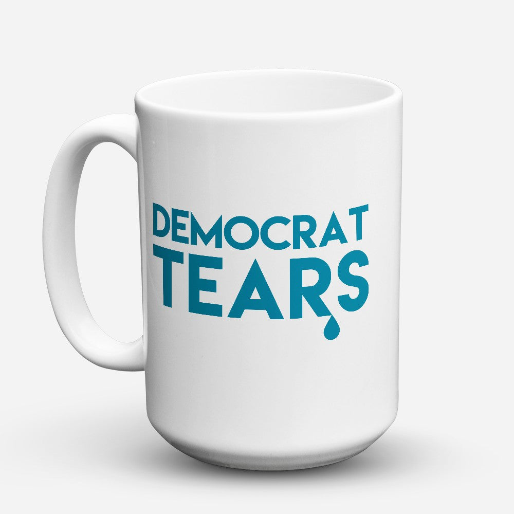 "Limited Edition - ""Democrat Tears"" 15oz Mug - Political Mugs - Mugdom Coffee Mugs"