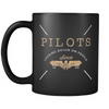 Pilots Looking Down 11oz Mug (Version 2) - Pilot Mugs - Mugdom Coffee Mugs