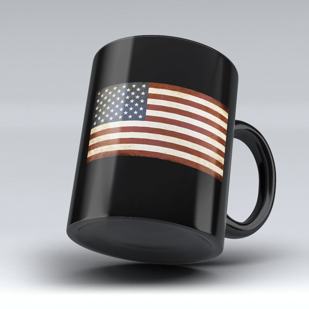 "Limited Edition - ""Flag"" 11oz black Mug - Political Mugs - Mugdom Coffee Mugs"