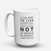 "Limited Edition - ""Tie It To A Goal"" 15oz Mug - Inspirational Quotes Mugs - Mugdom Coffee Mugs"