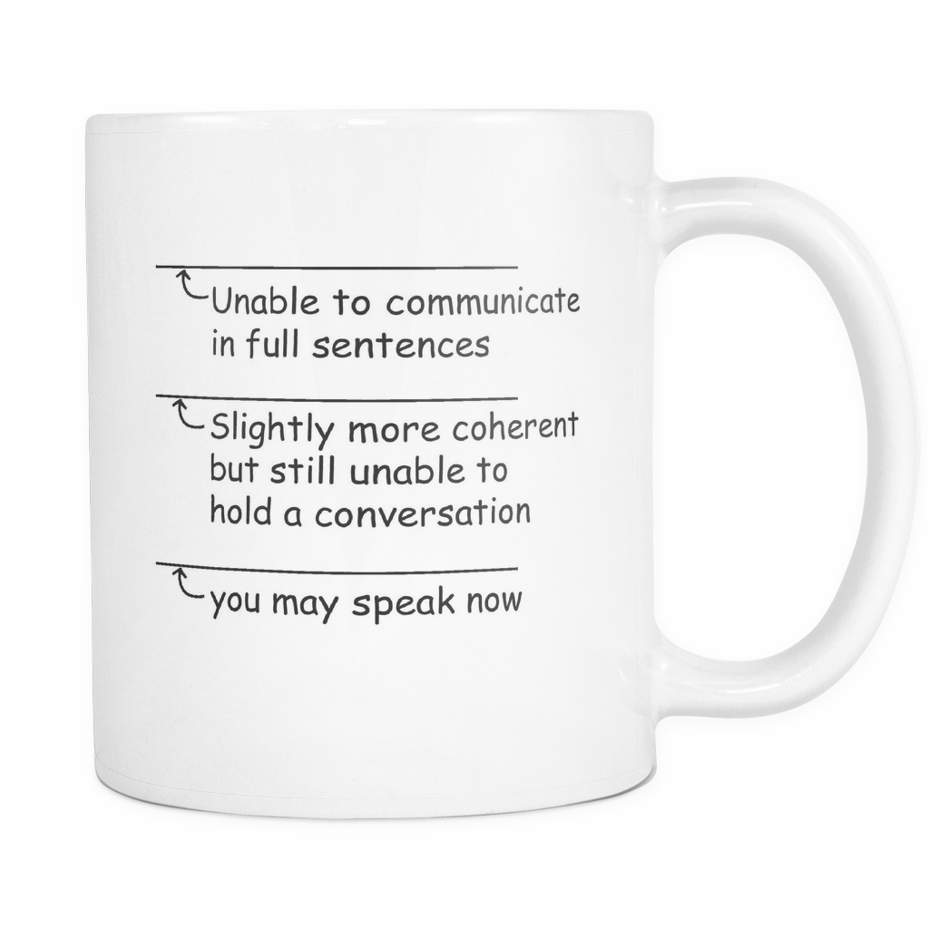 "Limited Edition - ""Funny You May Speak Now"" 11 oz Mug - Funny Mugs - Mugdom Coffee Mugs"