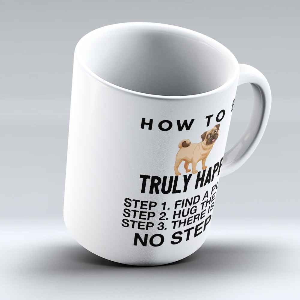 "Limited Edition - ""No Step 3"" 11oz Mug - Pug Mugs - Mugdom Coffee Mugs"