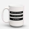"Limited Edition - ""Work Hard In Silence"" 15oz Mug - Inspirational Quotes Mugs - Mugdom Coffee Mugs"