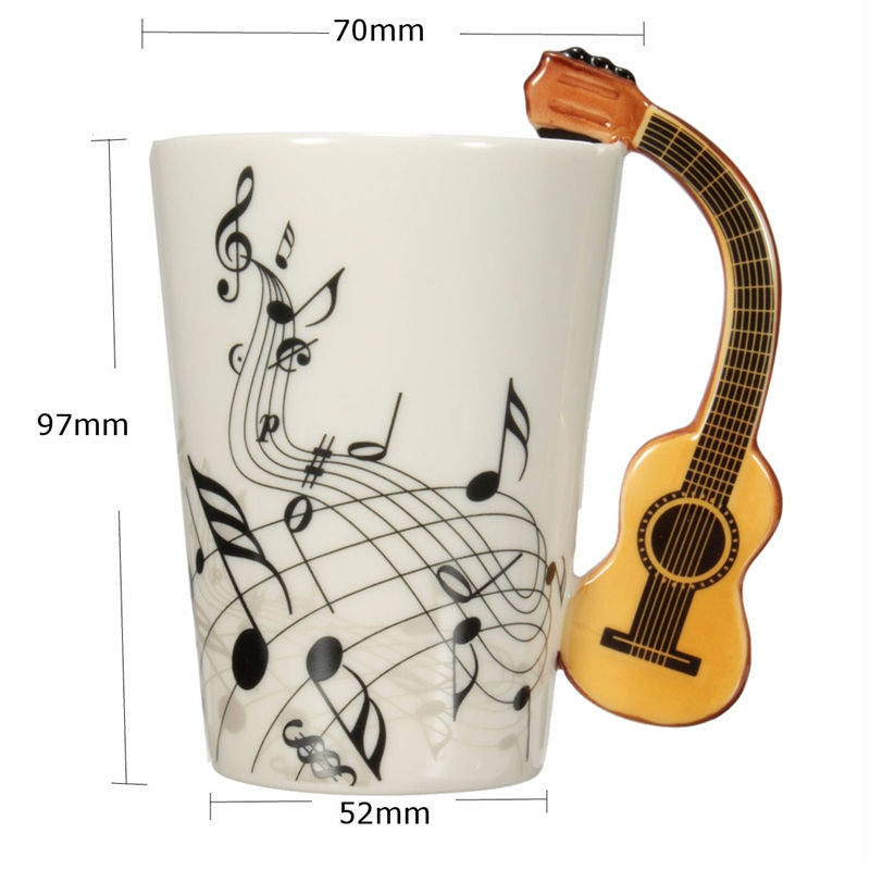 "Limited Edition ""Acoustic Guitar"" Premium Ceramic Mug - 7.4oz - Music Mugs - Mugdom Coffee Mugs"