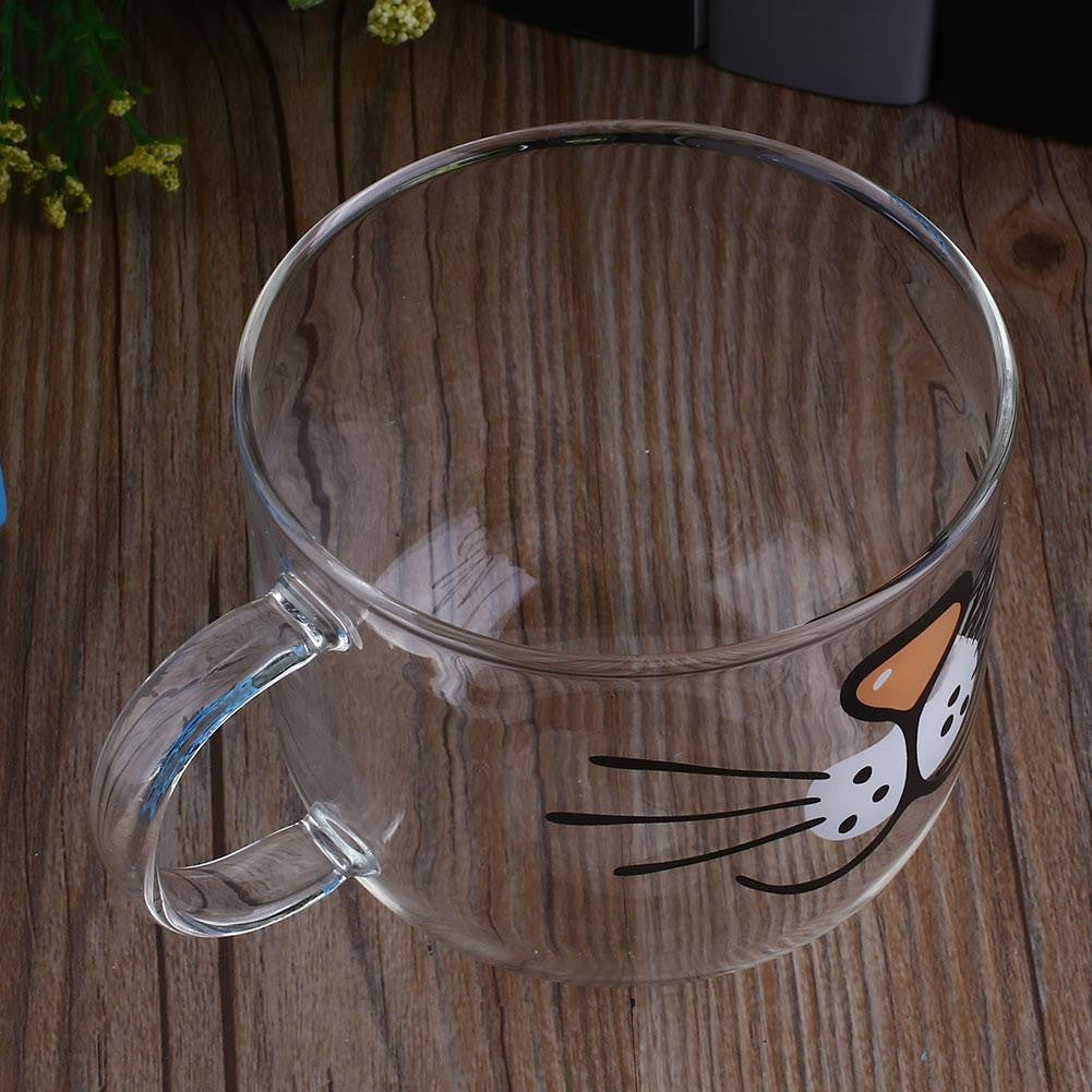 "Premium Glass ""Cat Face"" Coffee Mug - Animal Mugs - Mugdom Coffee Mugs"