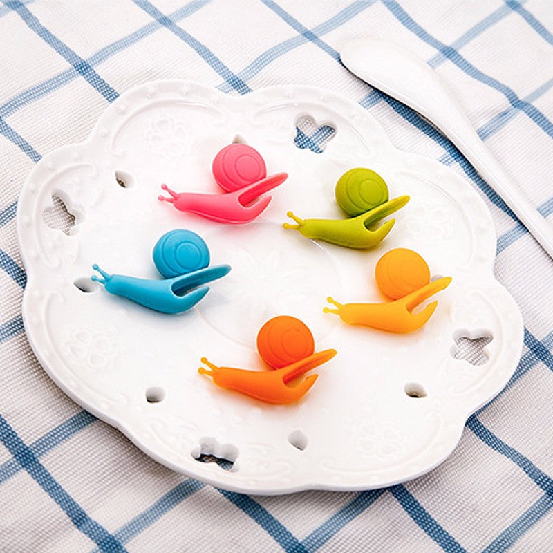 5 Pack - Cute Snail Tea Bag Holders - Coffee Tool - Mugdom Coffee Mugs