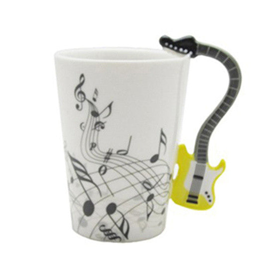 "Limited Edition ""Electric Guitar"" Premium Ceramic Mug - 8.4oz - Music Mugs - Mugdom Coffee Mugs"