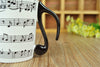 Music Staves Mug with FREE Lid - Mugdom Coffee Mugs