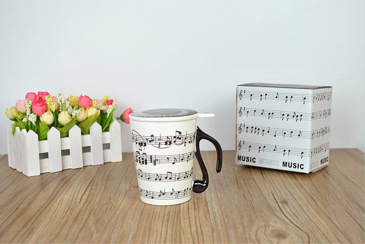 Music Staves Mug with FREE Lid