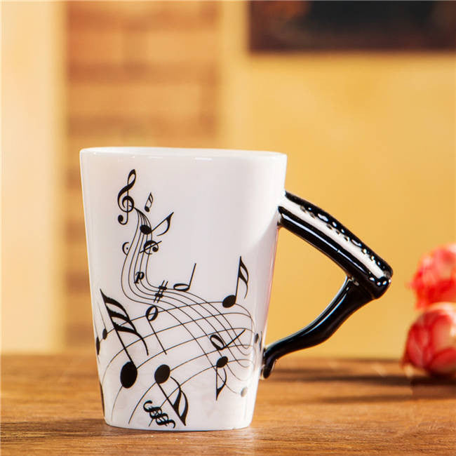 "Limited Edition ""Piano"" Premium Ceramic Mug - 8.4oz - Music Mugs - Mugdom Coffee Mugs"