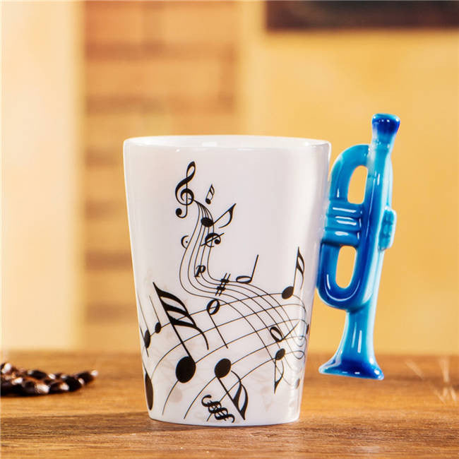 "Limited Edition ""Trumpet"" Premium Ceramic Mug - 8.4oz - Music Mugs - Mugdom Coffee Mugs"